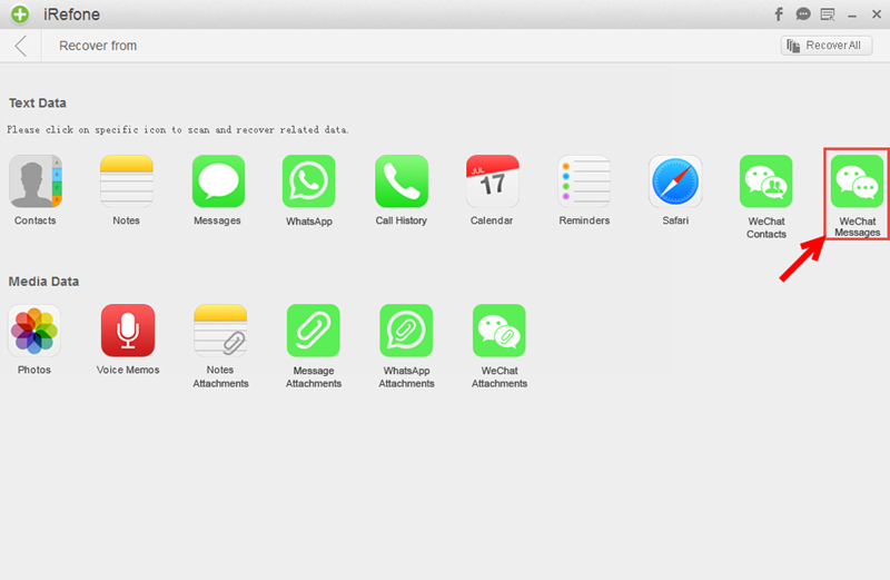 Recover WeChat Contacts on iPad - recover-wechat-messages-on