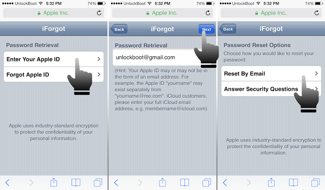 how to see my email password on iphone